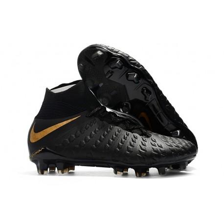 Nike Hypervenom Phantom III DF FG Cleats Black Gold