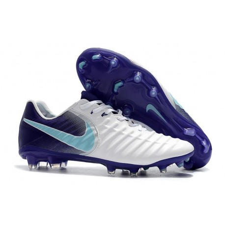 New Nike Tiempo Legend VII FG Kangaroo Boots - White Purple
