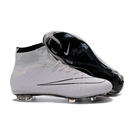 Top 2016 Nike Mercurial Superfly FG Soccer Cleats White Black