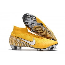 New Nike Mercurial Superfly 6 Elite FG World Cup - Neymar Yellow White