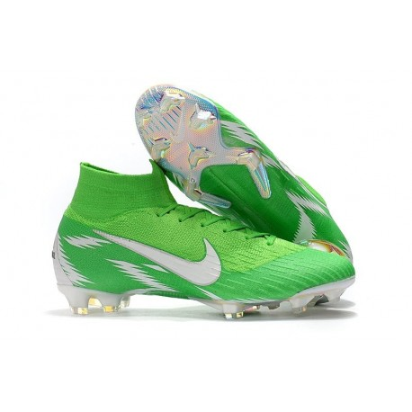 New Nike Mercurial Superfly 6 Elite FG World Cup - Green Silver