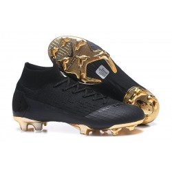 New Nike Mercurial Superfly 6 Elite FG World Cup - Black Golden