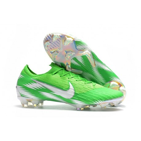 c49a7b6bd8d Nike World Cup 2018 Mercurial Vapor XII FG Boots - Green Silver