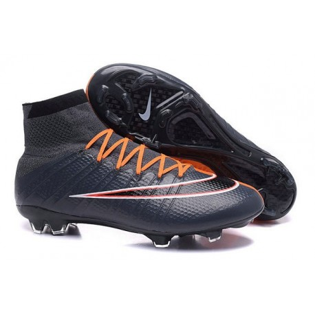Top 2016 Nike Mercurial Superfly FG Soccer Shoes Black Orange