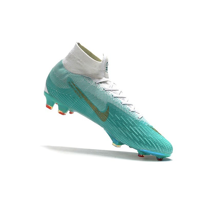 fd2e6486b Ronaldo Nike Mercurial Superfly 6 Elite CR7 FG World Cup - White Blue Gold  Maximize. Previous. Next