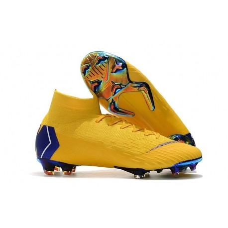 New Nike Mercurial Superfly 6 Elite FG World Cup - Yellow Blue