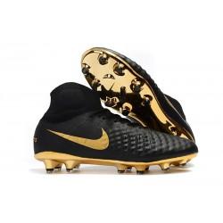 Nike Magista Obra II FG Men Soccer Boots Black Golden