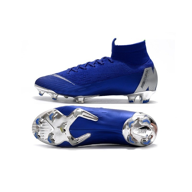 new styles 94edc 74f1f Nike Mercurial Superfly VI 360 Elite FG Top Cleats - Blue Silver Maximize.  Previous. Next