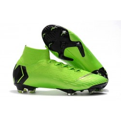 Nike Mercurial Superfly VI 360 Elite FG Top Cleats - Green Black