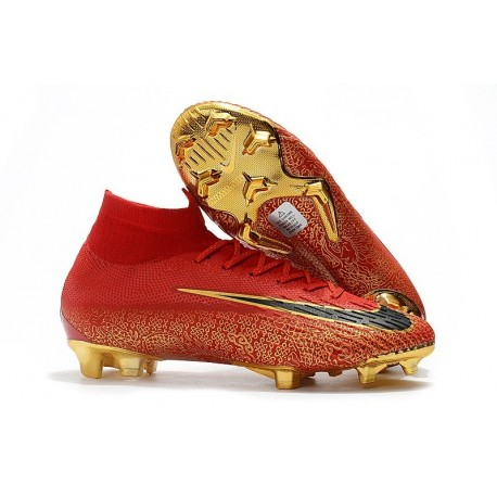 Nike Mercurial Superfly VI 360 Elite FG Top Cleats - Red Gold