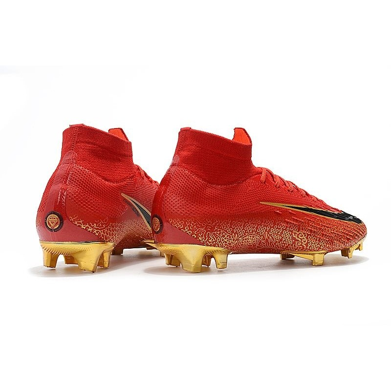 b1e7ac5fe87 Nike Mercurial Superfly VI 360 Elite FG Top Cleats - Red Gold Maximize.  Previous. Next