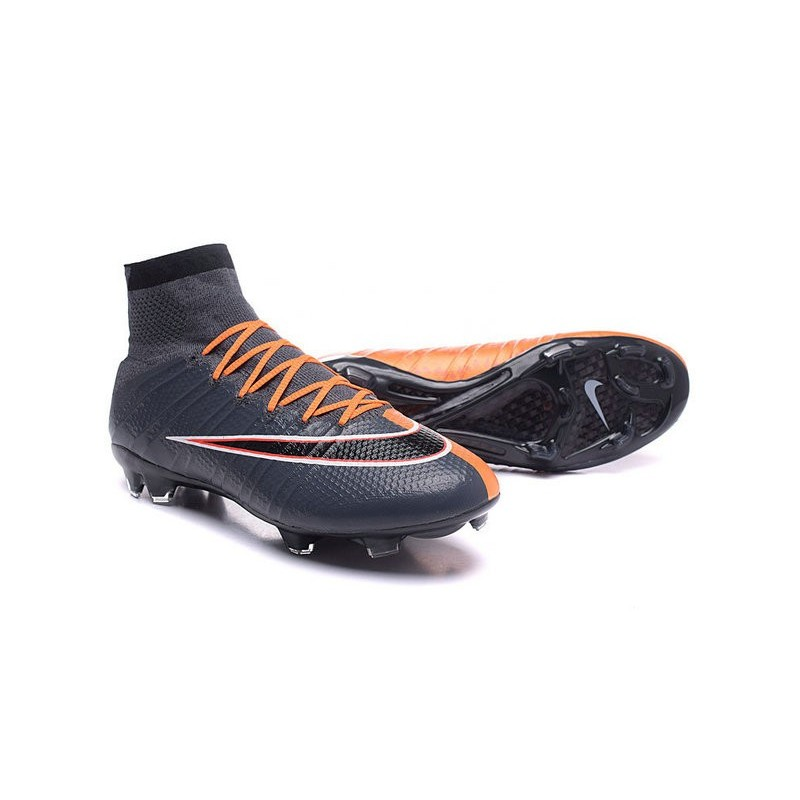 Top 2016 Nike Mercurial Superfly FG Soccer Shoes Black Orange 7b2f7ca8b547