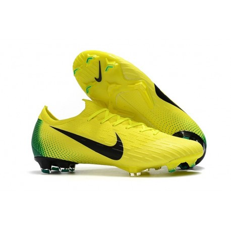 Nike Mercurial Vapor XII Elite FG Firm Ground Cleats - Yellow Blue Black