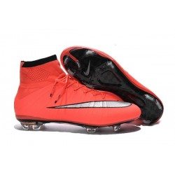 Top 2016 Nike Mercurial Superfly FG Soccer Shoes Mango Silver