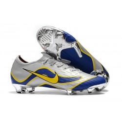 Nike Mercurial Vapor XII Elite FG Firm Ground Cleats - Silver Blue Yellow