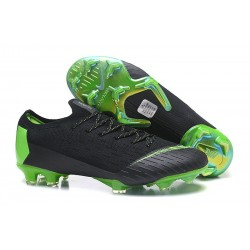 Nike Mercurial Vapor XII Elite FG Firm Ground Cleats - Black Green