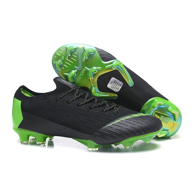 fc0bcf735 Nike Mercurial Vapor XII Elite FG Firm Ground Cleats - Black Green  Maximize. Previous. Next