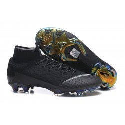 Nike Mercurial Superfly VI 360 Elite FG Top Cleats - Black White