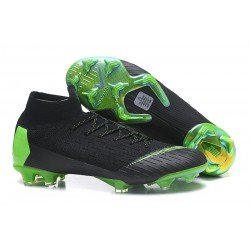 Nike Mercurial Superfly VI 360 Elite FG Top Cleats - Black Green