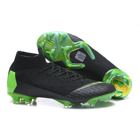 a34f92743 Nike Mercurial Superfly VI 360 Elite FG Top Cleats - Black Green