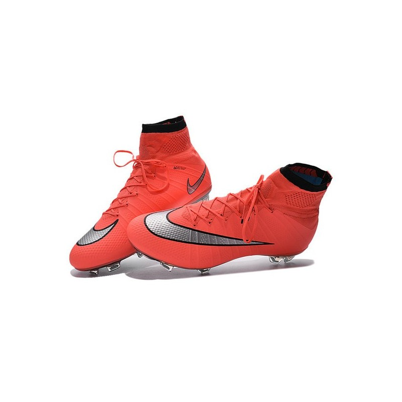 competitive price 58d84 9805f Top 2016 Nike Mercurial Superfly FG Soccer Shoes Mango Silve