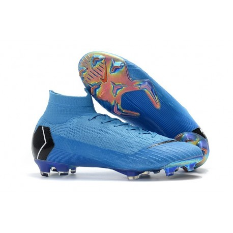 Nike Mercurial Superfly VI 360 Elite FG Top Cleats - Blue Black