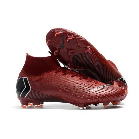 Nike Mercurial Superfly VI 360 Elite FG Top Cleats - Crimson 3d0c233aba04a