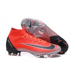 Nike Mercurial Superfly 6 Elite FG Firm Ground Boots - Red Black