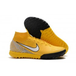 Neymar Nike Mercurial Superfly VI Elite TF Boot - Yellow White
