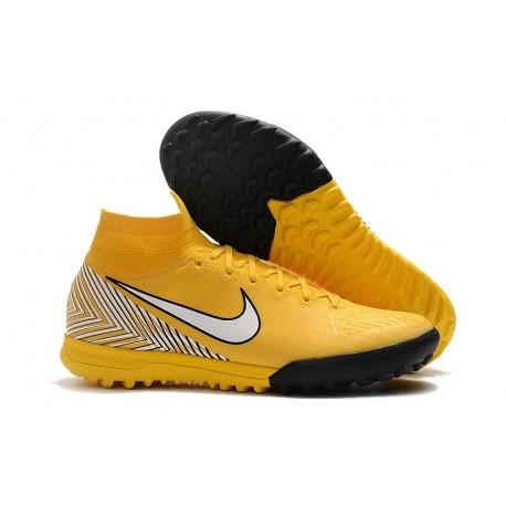 Neymar Nike Mercurial Superfly VI Elite TF Boot - Yellow White