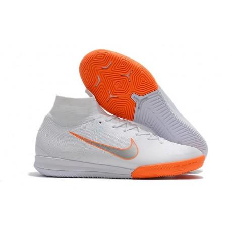 Nike Mercurial SuperflyX VI Elite IC Indoor Futsal - White Orange