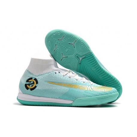 Nike Ronaldo Mercurial SuperflyX VI Elite IC Indoor Futsal - White Blue
