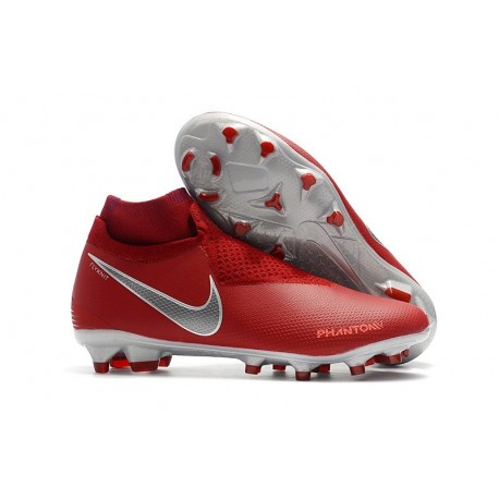 Nike Phantom Vision Elite Dynamic Fit FG Cleat - Red Silver