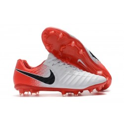 New Nike Tiempo Legend VII FG Kangaroo Boots - White Red Black