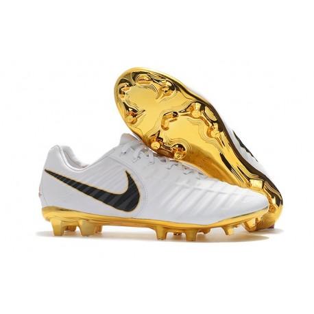 New Nike Tiempo Legend VII FG Kangaroo Boots - White Gold