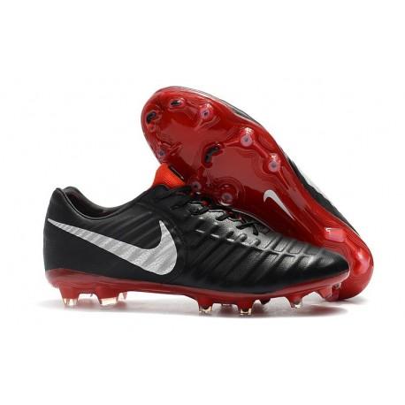 New Nike Tiempo Legend VII FG Kangaroo Boots - Black Red White