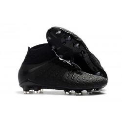 Nike Hypervenom Phantom III DF FG Cleats Black Silver