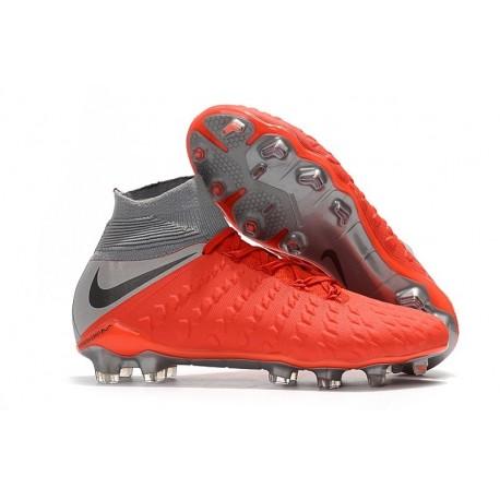 Nike Hypervenom Phantom III DF FG Cleats Gray Red