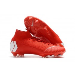 Nike Mercurial Superfly 6 Elite FG Firm Ground Boots - Red White