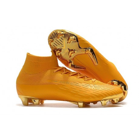 Nike Mercurial Superfly 6 Elite FG Firm Ground Boots - Golden