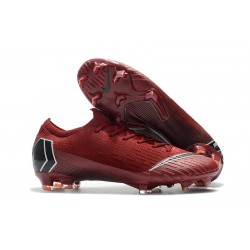 Nike Mercurial Vapor 12 Elite FG Man Boots - Red Black