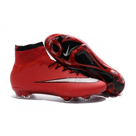 Nike Mercurial Superfly FG New Men Football Cleats Red Black White