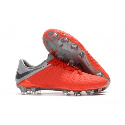 Nike Hypervenom Phantom 3 FG Soccer Shoes - Crimson Gray