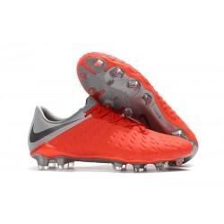 Nike Hypervenom Phantom 3 FG Soccer Shoes - Crimson Gray
