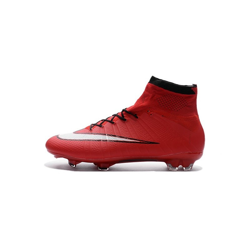 Nike Mercurial Superfly FG New Men Football Cleats Red Black White 9b5810b27675c