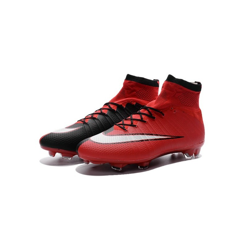 7229c2665 Nike Mercurial Superfly FG New Men Football Cleats Red Black White