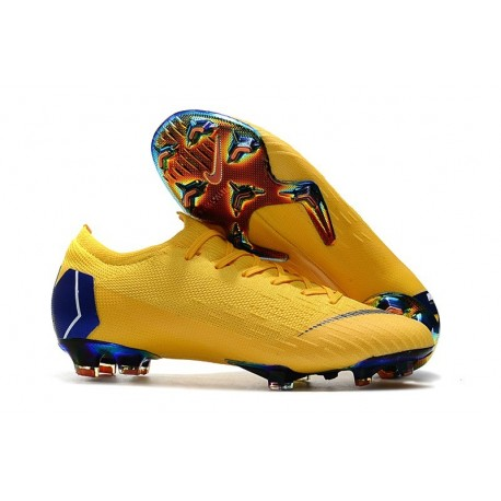 Nike Mercurial Vapor 12 Elite FG Man Boots - Yellow Blue