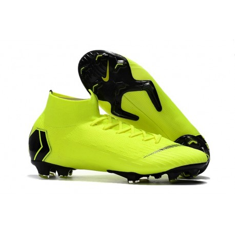 Nike Mercurial Superfly 6 Elite FG Firm Ground Boots - Volt Black