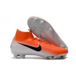 Nike Mercurial Superfly 6 Elite FG Firm Ground Boots - Orange White Black