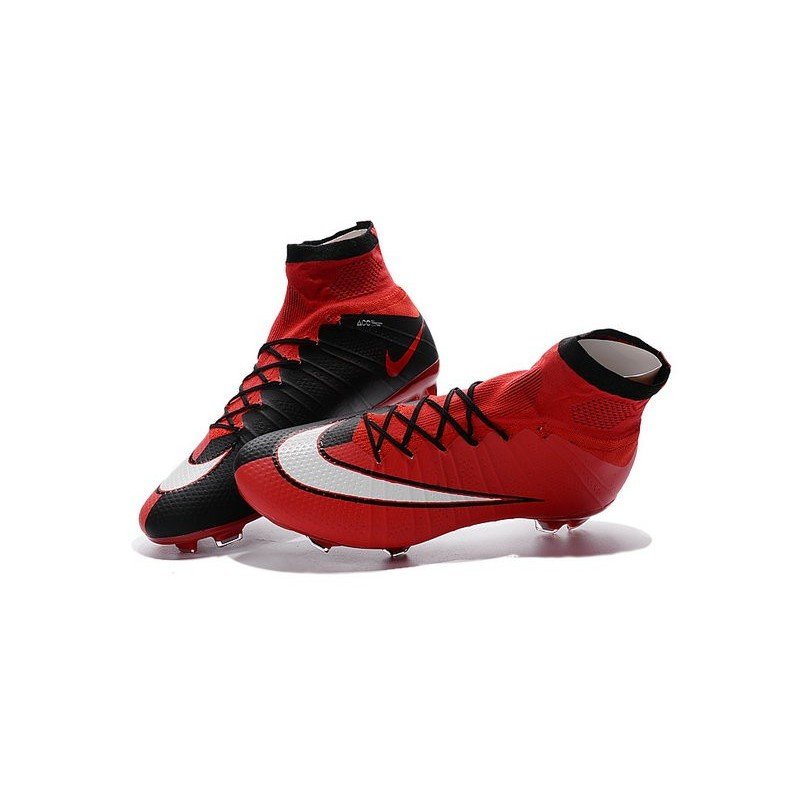 Nike Mercurial Superfly FG New Men Football Cleats Red Black White 45e806231c1a
